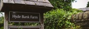 hyde bank farm sign